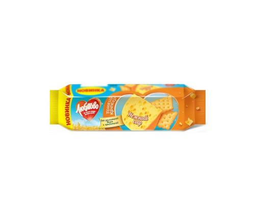 Крекер нежный сыр Любятово 100 г