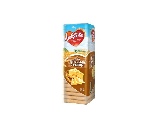 Крекер Любятово Янтарный с сыром 235 г