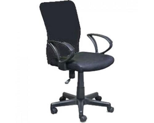 Кресло операторское БЮРОКРАТ, ткань-сетка, цвет черный/черный