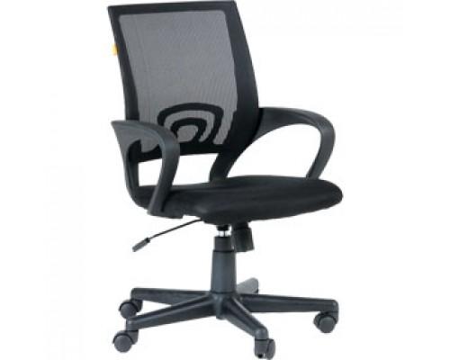 Кресло операторское CHAIRMAN 696, ткань-сетка, цвет черный/черный