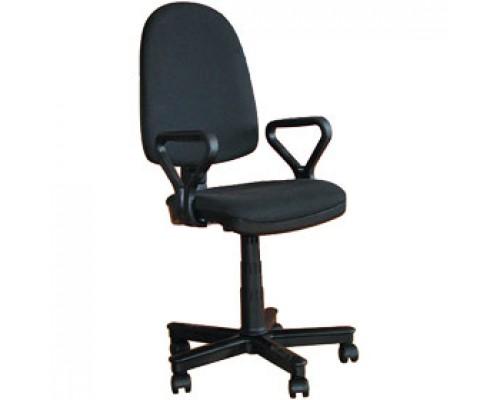 Кресло операторское с подлокотниками ПРЕСТИЖ, текстиль, черный