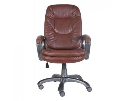 Кресло руководителя с механизмом качания CH-868AXSN, иск. кожа, коричневый