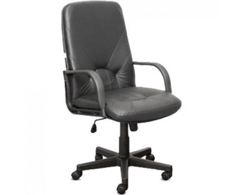 Кресло руководителя с механизмом качания, кожа Split, черный