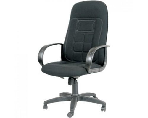 Кресло руководителя с механизмом качания CHAIRMAN CH727/Бюрократ T-898AXSN, текстиль, терморисунок, черный