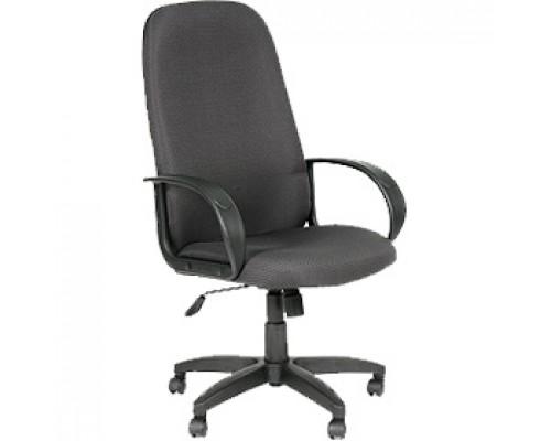 Кресло руководителя с механизмом качания CHAIRMAN CH279, текстиль, терморисунок, черно-серый