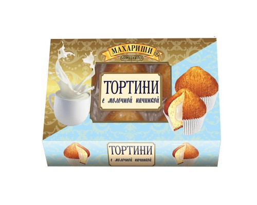 Кекс Махариши Тортини с молочной начинкой 200 г