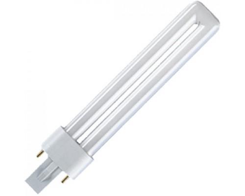 Лампа люминесцентная OSRAM Dulux S, цоколь G23, 11Вт, 214мм, теплый-белый