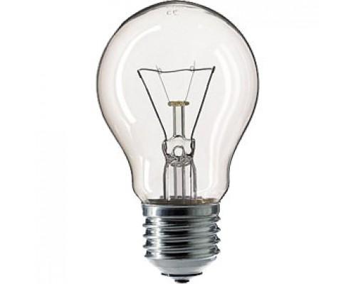 Лампа накаливания 60Вт E27 PHILIPS, стандартная прозрачная