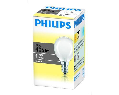 Лампа накаливания Philips 40 Вт цоколь E14 (теплый свет)