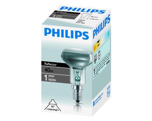 Лампа накаливания Philips 40 Вт цоколь E14 (белый свет)
