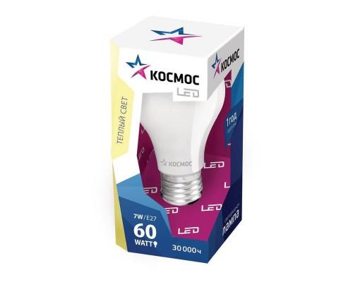 Лампа светодиодная LED Космос 7 Вт цоколь E27 (теплый свет)