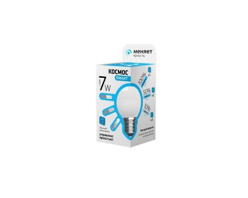 Лампа светодиодная LED Космос Smart 7 Вт цоколь E27 (переменная яркость, белый свет)