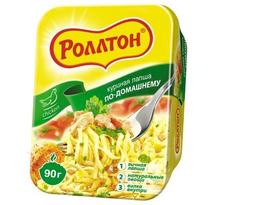 Лапша Роллтон по-домашнему со вкусом курицы 90 г