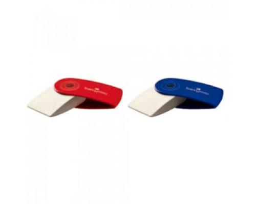 Ластик FABER-CASTELL Sleeve 182411, красный/синий