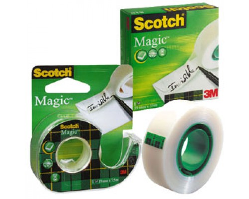 Лента клейкая 3М Scotch Magic 19ммх33м, невидимая