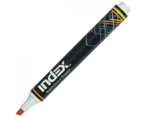 Маркер для досок INDEX 1-5 мм скошенный наконечник, красный