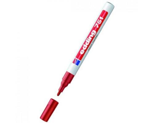 Маркер пеинт (лак) EDDING E-751 1-2мм, мет. корп., красный