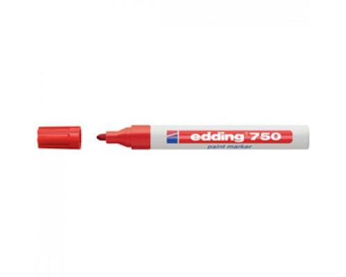 Маркер пеинт (лак) EDDING E-750 2-4мм, красный