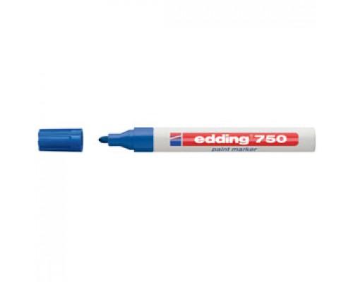 Маркер пеинт (лак) EDDING E-750 2-4мм, синий