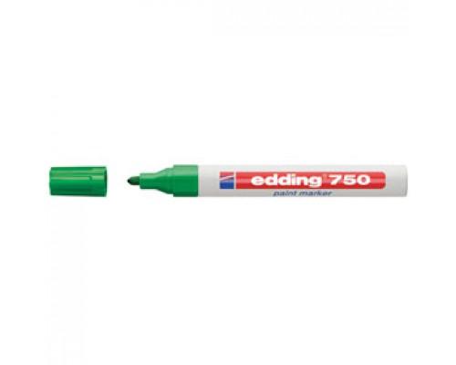 Маркер пеинт (лак) EDDING E-750 2-4мм, зеленый