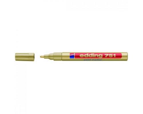 Маркер пеинт (лак) EDDING E-751 1-2мм, мет. корп., золото