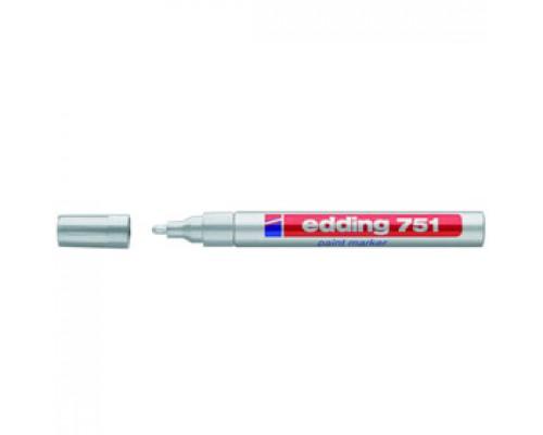 Маркер пеинт (лак) EDDING E-751 1-2мм, мет. корп., серебро