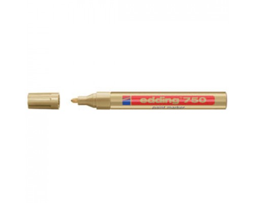 Маркер пеинт (лак) EDDING E-750 2-4мм, золото