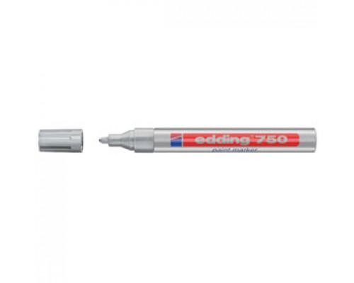 Маркер пеинт (лак) EDDING E-750 2-4мм, серебро