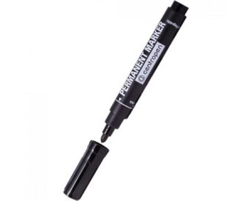Маркер перманент CENTROPEN 8566 1,5-3мм круглый наконечник, черный