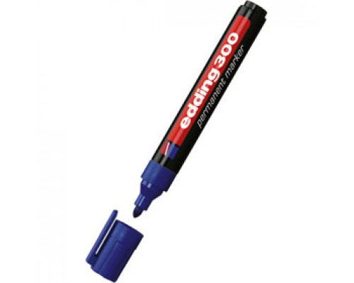 Маркер перманент EDDING E-300 1,5-3мм круглый наконечник, синий