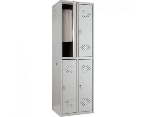 Шкаф для одежды ПРАКТИК LS-22(LE-22), 1830*575*500, 4 секции
