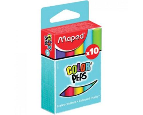 Мел школьный MAPED, 10шт. цветной