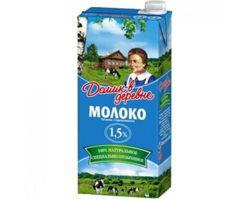 Молоко Домик в Деревне 1,5% 950г.