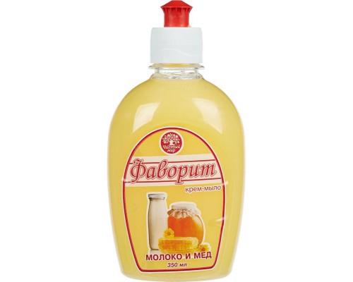Жидкое крем-мыло Фаворит молоко и мед 350 мл