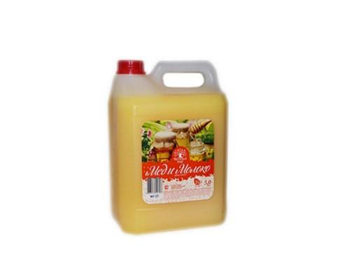 Жидкое крем-мыло Фаворит мед и молоко 5 л (канистра)