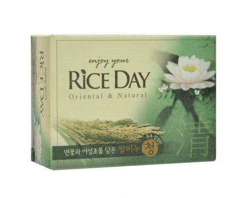 Мыло туалетное CJ Lion Rice Day с экстрактом лотоса 100 г
