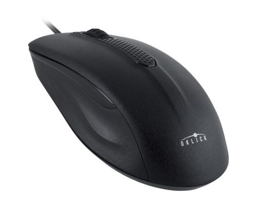 Мышь OKLICK 175M USB, оптическая, проводная, черный