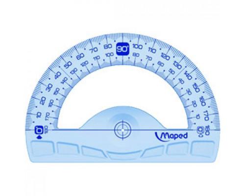Транспортир MAPED Geometric, 180 градусов, длина 12 см, пластик