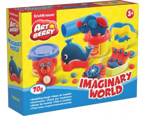 Пластилин на растит. основе Imaginary World 2 бан/35г, разноцветн.