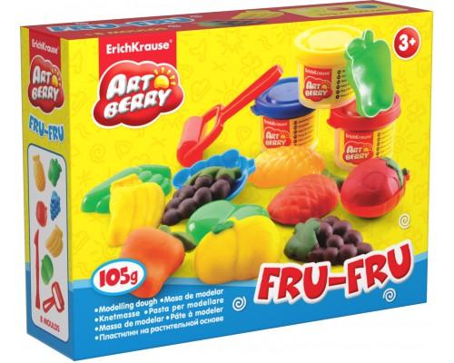 Пластилин на растит. основе Fru-Fru 3 бан/35г, разноцветн.