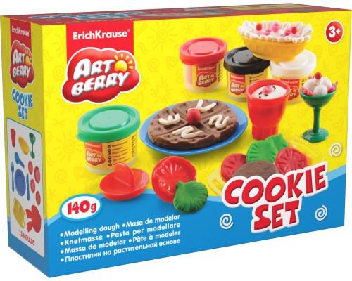 Пластилин на растит. основе Cookie Set 4 бан/35г, разноцветн.