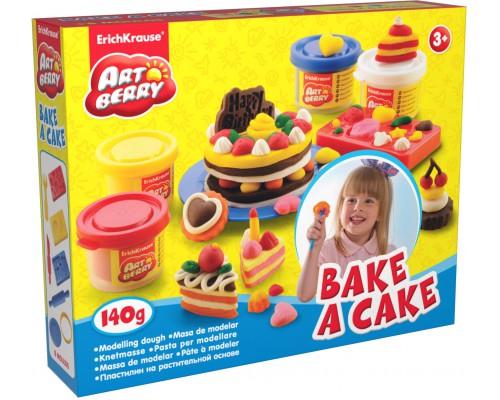 Пластилин на растит. основе Bake a Cake 4 бан/35г, разноцветн.