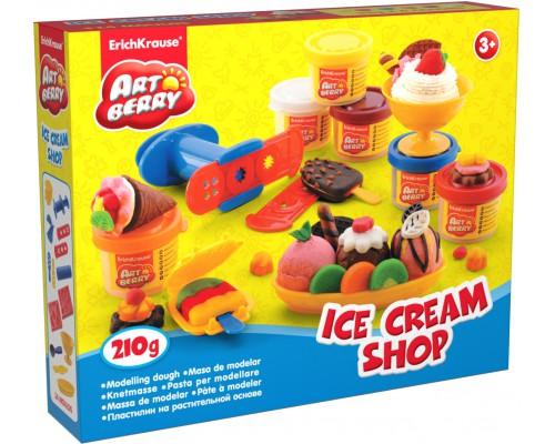 Пластилин на растит. основе Ice Cream Shop 6 бан/35г, разноцветн.