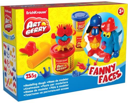 Пластилин на растит. основе Funny Faces 2 бан/100г 1 бан/35г, разноцветн.