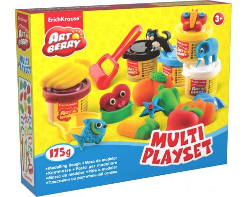 Пластилин на растит. основе Multi Playset 5 бан/35г, разноцветн.