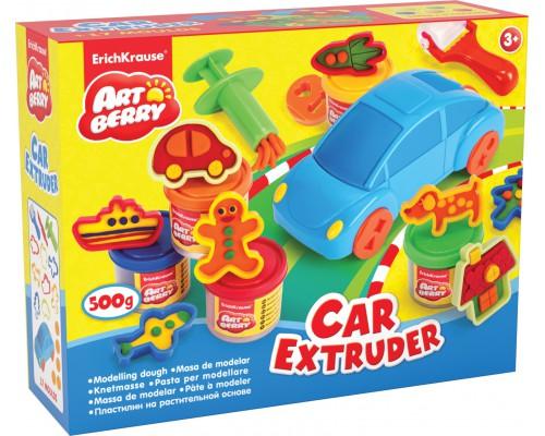 Пластилин на растит. основе Car Extruder 5 бан/100г, разноцветн.