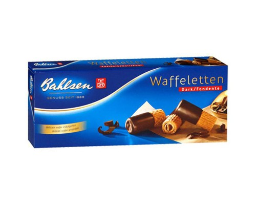 Вафельные трубочки Bahlsen Waffelettem Dark 100 г