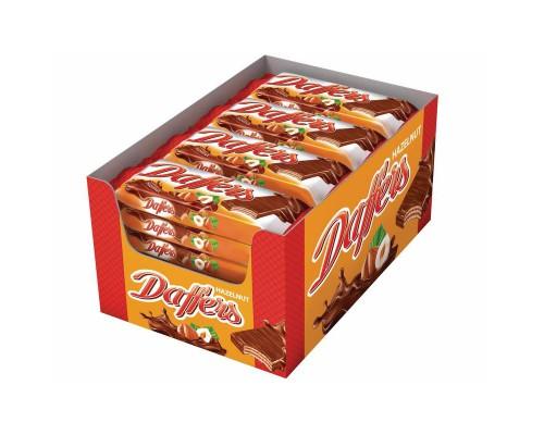 Вафли Daffers с лесным орехом 30 г (28 штук в упаковке)