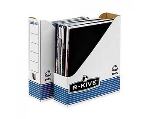Накопитель архивный 80мм FELLOWES R-Kive Prima, картон, бело-синий