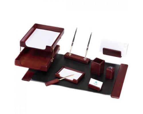 Набор настольный деревянный 9 предметов, GOOD SUNRISE, темн. красное дерево